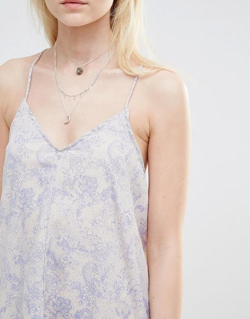 d095086b Noisy May short dress Blue Beige Zara Free People Topshop For Love And Lemons  Stone Cold