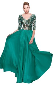 MNM Couture Classic Long Dress