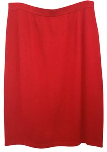 St. John Red Knit Skirt