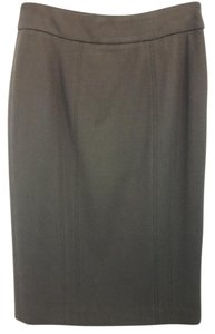Armani Collezioni Brown Wool Pencil Skirt