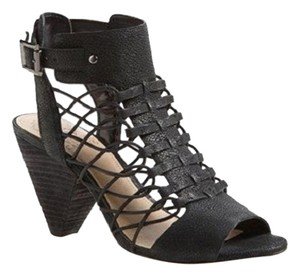Vince Camuto Leather Black Sandals
