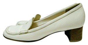 Miu Miu Vintage Loafer Chunky Heel white Pumps