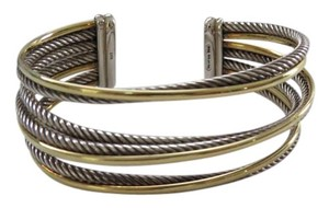 David Yurman Crossover Collection - 4 Row Cuff Bracelet with SS and 18k YG, Medium