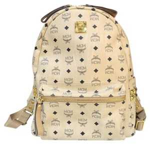 MCM Stark Visetos Canvas Backpack