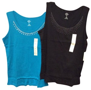 Other T Shirt Black & Turquoise