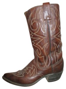 Texas Imperial Leather Western Cowboy Men's brown Boots