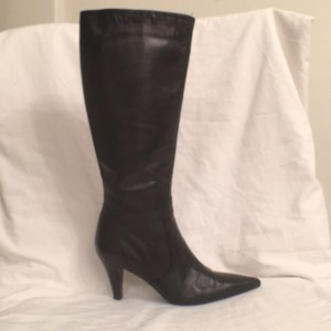 Gastone Lucioli Leather Zipper Black Boots