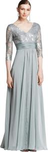 Adrianna Papell Empire Waist V-neck Gown Full Length Dress