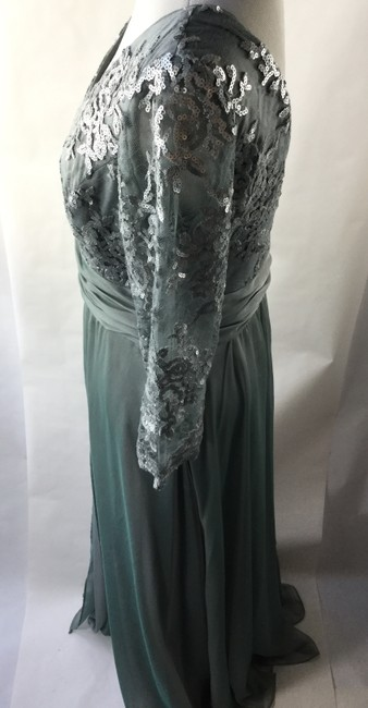 Adrianna Papell Empire Waist V-neck Full Length Gown Dress
