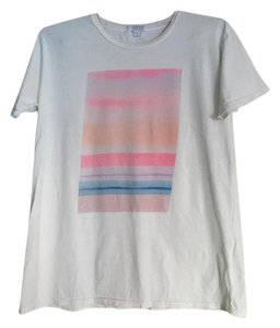 Short Sleeve White T Shirt White, Multi