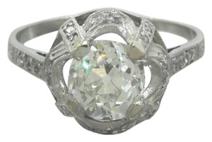 Other Ladies Antique 1920s Art Deco 2.42ctw Diamond Platinum Engagement Ring