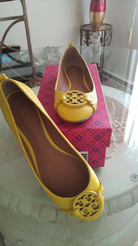 WOMEN Tory quality Burch Yellow Flats Superior quality Tory 8215c8