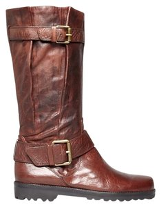 Gentle Souls Moto Super Soft Leather Rustic Brown Boots