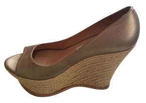 Pura Lopez Pewter Wedges