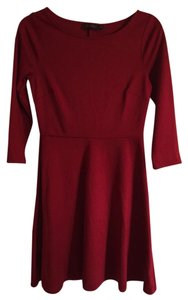 The Limited short dress Dark red on Tradesy