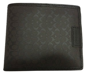 Coach COACH men's SIGNATURE DOUBLE BILLFOLD WALLET