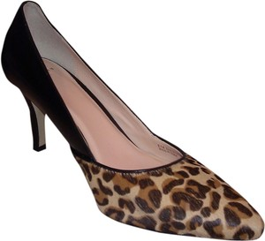 Cole Haan Camel Hair Black/Leopard Print Pumps