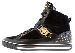 Versace Black New Studded High-top Sneakers For Men 45 - 12 Shoes