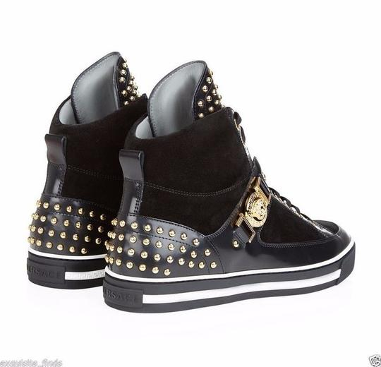 Versace Black New Studded High-top Sneakers 39 - 6 Shoes Image 1