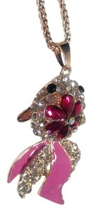 Betsey Johnson Betsey Johnson Pink Goldfish Pendant Necklace J2908