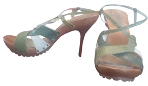 Kenneth Cole Leather Green Sandals