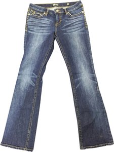 MEK Denim Boot Cut Jeans-Light Wash