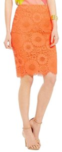 Trina Turk Lace Pencil Orange Neon Skirt Halo Orange