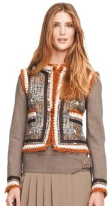 Tory Burch Multi Shades of Brown Blazer