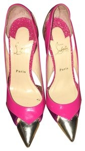 Christian Louboutin Pink, Magenta , Gold Formal