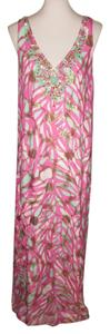 $140 FIRM Size 4 **Free Shipping** NWT Maxi Dress by Lilly Pulitzer Mallory Maxi Free