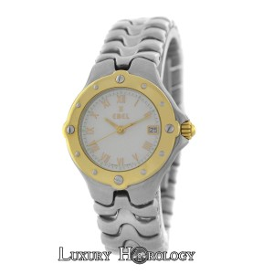 Ebel Authentic Ladies Ebel Sportwave E6087621 18K Gold Steel Date Quartz