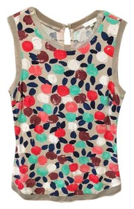 Anthropologie Top Taupe/ Flowe print