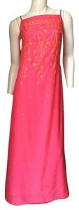 Escada Pink Embroidered Dress