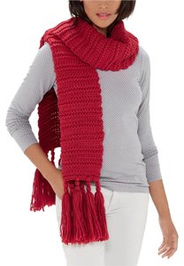 The Limited 6.5 FEET The Limited Big Red Chunky Scarf NWT $60