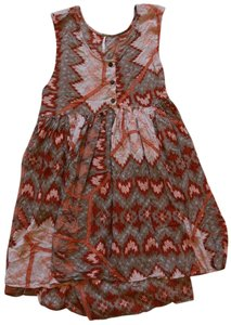 Free People short dress Taupe/red/ multi on Tradesy