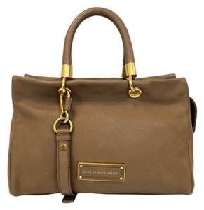 Marc by Marc Jacobs Too Hot To Handle Pebbled Leather Zip Satchel in Praline
