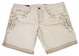 Gucci Embroidered Shorts Beige