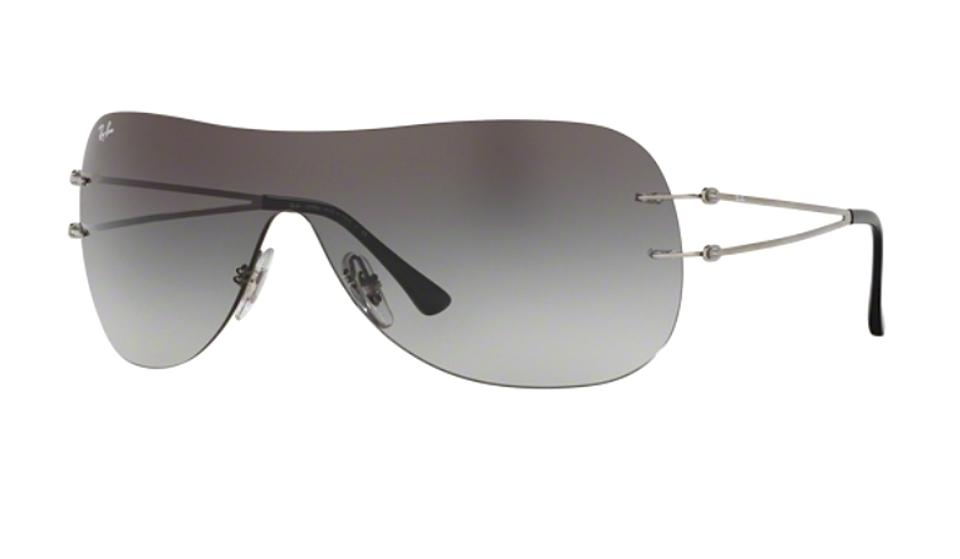 7e01807d9567 Ray-Ban Silver - Gray Gradient Lens Rb 8057 159/11 (Color) Shield ...