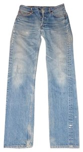 Levi's Button Fly Distressed Straight Leg Jeans-Distressed