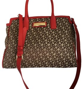 DKNY Tote in Red&Brown