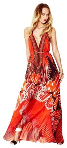red Maxi Dress by shahida parides
