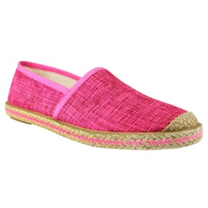 Naughty Monkey Canvas Slip On Pink Fuschia Flats