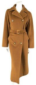 Max Mara Wool Cashmere Winter Long Double Breasted Trench Coat