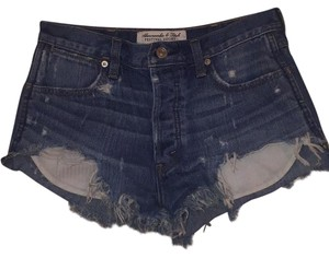 Abercrombie & Fitch Mini/Short Shorts Blue jean.