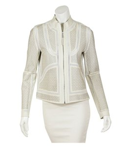 Elie Tahari #leather White Leather Jacket