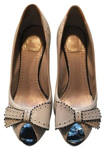 Dior Leather Light taupe/Bone quilted Pumps