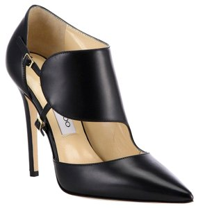 Jimmy Choo Stiletto Classic Edgy Leather Black Pumps
