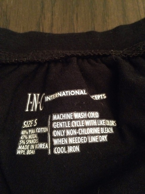 INC International Concepts T Shirt Black Image 2