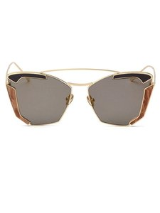 Black Brown Butterfly Sunglasses Brown Lens