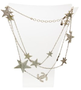Chanel #8503 CC star long chain crystals necklace single double strand